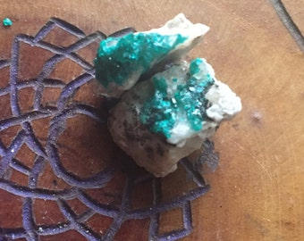 Dioptase (Two Pieces)