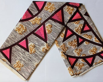 Ankara - African Wax Print Fabric - 6 yards
