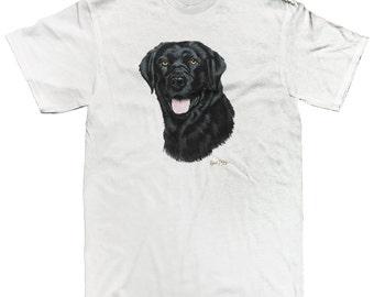 Black Labrador Retriever Head Dog Breed Canine Mans Best Friend Men's T-shirt SF_0016