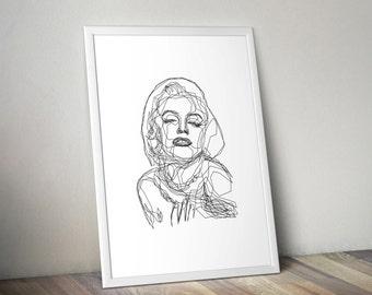 Marilyn Monroe - One Line Poster