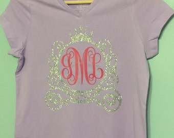 Princess Carriage Vinyl Monogram Shirt