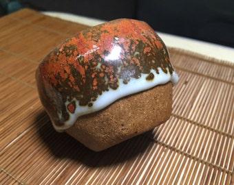 Handmade Teacup Stoneware With Red Glaze