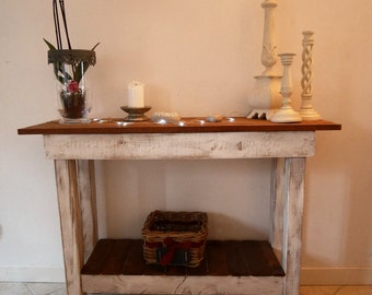 Table console palette wood