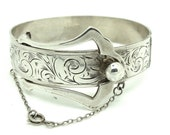 Victorian 1864 Silver Bracelet | Antique Silver Buckle Bangle | FREE DELIVERY