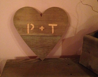 12 Inch Personalized Barnwood Valentine