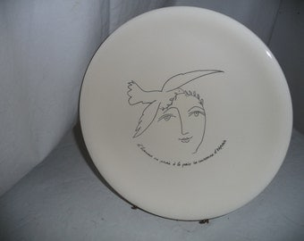 Plate by Picasso earthenware of Salins