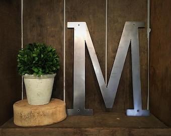 "Metal Letter - ""M"""