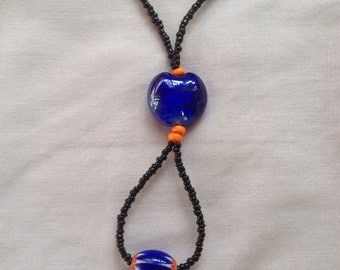 Art Deco Necklace in Those Blues