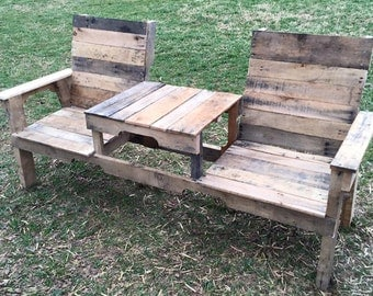 Table for Two - Recycled Wood