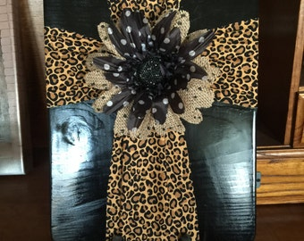 Black and Leopard Cross