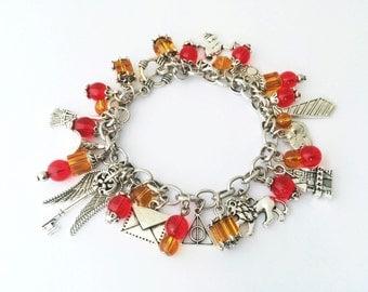 Gryffindor House Charm Bracelet, Harry Potter Bracelet