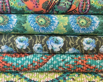 1/2 yard cuts of Gorgeous Amy Butler Fabrics - 2.5 yards