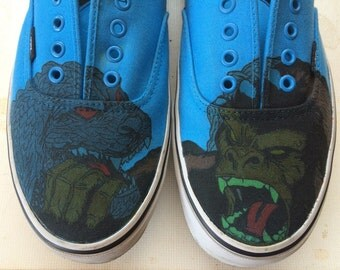 Vans Authentic Custom Shoes/shoes personalized Godzilla/King Kong