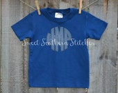 Boys Monogram Short Sleeved Tee  EMBROIDERED