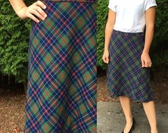 1980's Pendleton Holiday Skirt