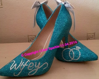 Glitter Wedding Heels
