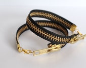 Zipper Bracelet - Black