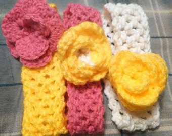 Yellow Rose of Texas Headbands for Babies