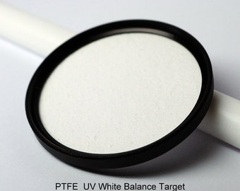 PTFE UV White Balance Filter Target 52mm or 55mm & smaller filter rings sintered