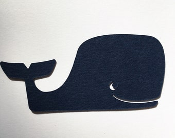 Cute whale embellishments set of 25 - card making - scrapbooking