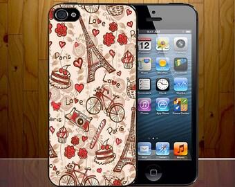 Love Paris Romance Doodle Art Collage Novelty Phone Case Cover Z413