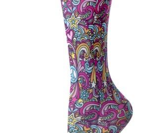 Cutieful Therapeutic Compression Socks - 60's Peace