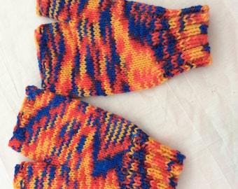 Knitted hand warmers fingerless gloves
