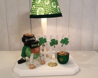 St Patrick day lamp