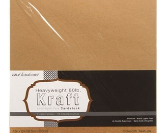 12 x 12 Kraft Card Stock - Core'dinations Card Stock - Heavy Weight Card Stock - Acid Free Card Stock - Brown Card Stock - Black Paper 12x12