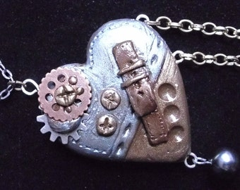 Polymer Clay Steampunk Heart