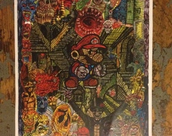 marios mind is missing glossy print signed by skuzzy with quote