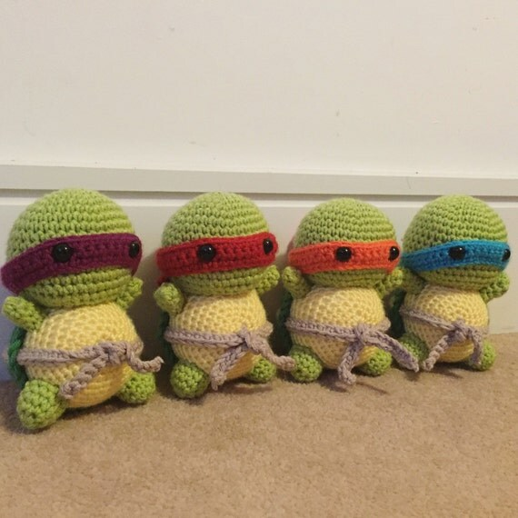 Amigurumi Ninja Turtle : Amigurumi Teenage Mutant Ninja Turtles Plushies by kbcstitches
