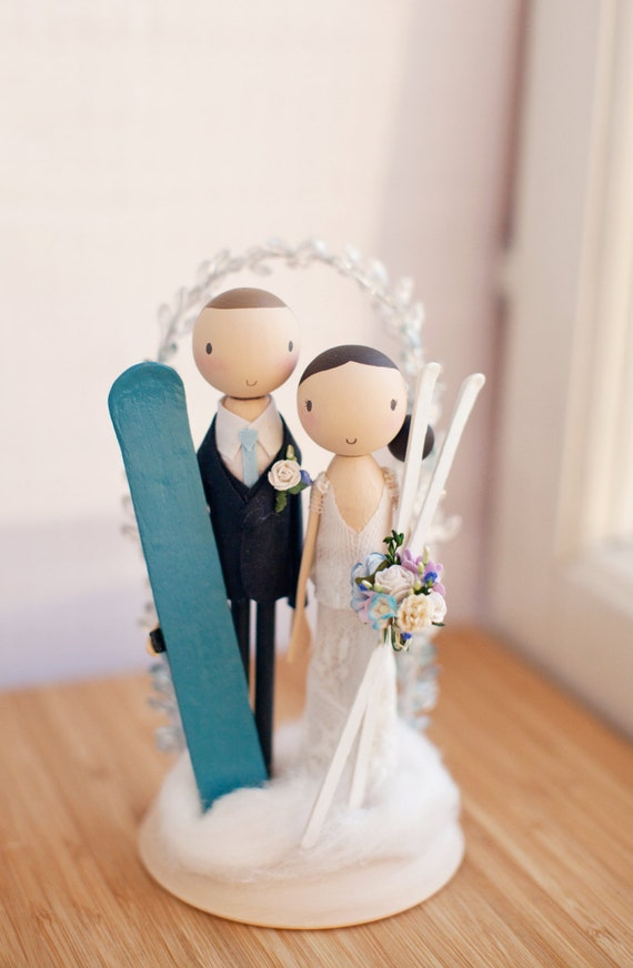custom wedding cake topper canada custom cake topperski themerustic wedding cake topper boho 13248