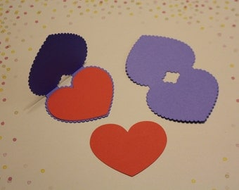 4 Lace valentines cards