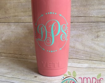 NEW STRAWS! Powder Coated Yeti/Powder Coated Yeti with Monogram w/ Straw/Monogram Powder Coated Yeti/Monogram Yeti/Custom Yeti/Colored Yeti