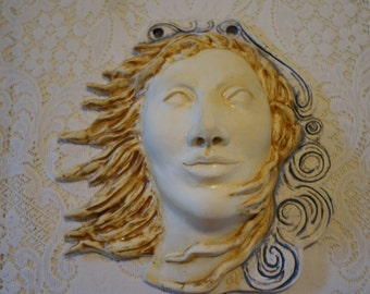 Wind - Clay Sculpture Wall Hanging