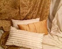 Gatsby Gold Decorative Pillow-Silk Decorative Pillow-Designer Pillow