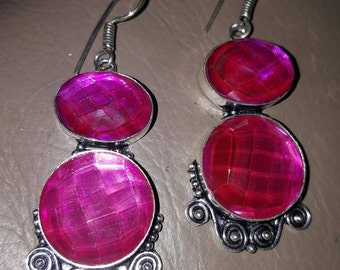 Pink Mystic Quartz Earrings!
