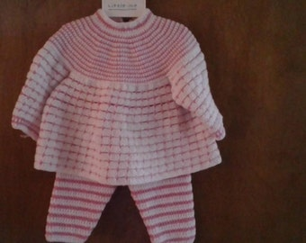 Polka dots & stripes warm-up 12 months