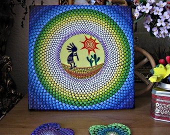 "ORIGINAL.  Painting ""Kokopelli - the God of joy."""