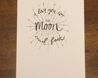 Items Similar To Printable Calligraphy Hand Lettering Love