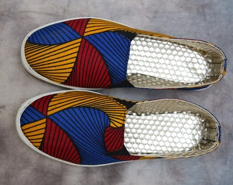 Santana plimsolls, african fabric, African shoes, African print shoes, ankara shoes, african print heels, african ankara women's cute heels