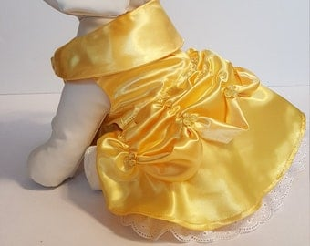 Belle Dog Costume, Dog Belle Halloween Costume, Puppy Belle Costume, Belle Puppy halloween Costume, Pet Belle Costume, Belle Pet Costume