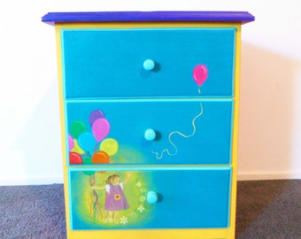 Run away Balloon - 3 Drawer Bedside Table