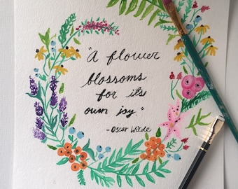 Flower bordered quote