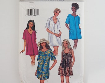 Uncut Butterick 3474 Womens Top Petite Cover-up Paper Sewing Pattern Size L, XL