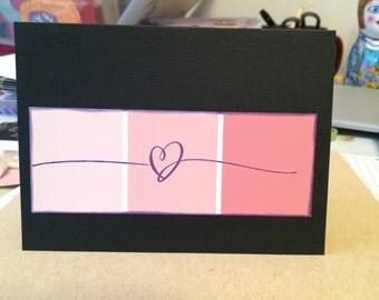 Love cards (set of 5) handstamped