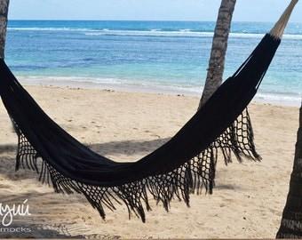 black hammock, boho swing, beach house hammock, double hammock, indoor hammock, luxury hammock, modern hammock, cotton hammock, gothic decor