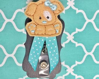 Puppy girl badge holder great for nurses or teachers!