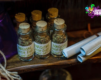 Magikal Fairy Wish Dust Three Wishes in a Bottle Spell Charm